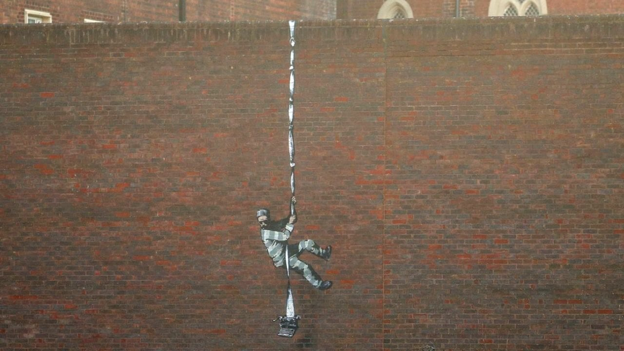 "Video zu Banksys Street Art im ""The Joy of Painting""-Stil"