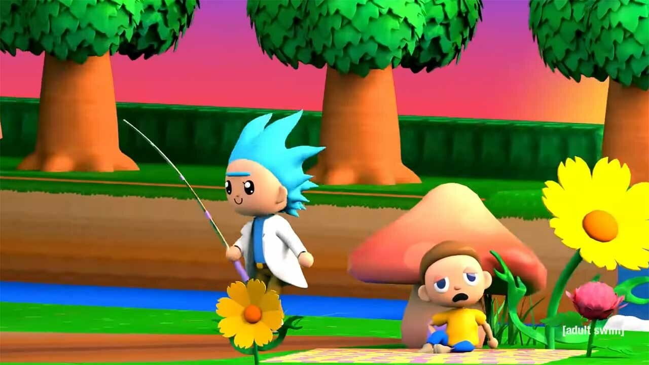 """Rick and Morty"" trifft ""Animal Crossing"""
