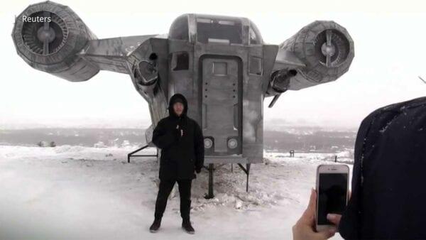 """Fans haben Raumschiff aus """"Star Wars: The Mandalorian"""" nachgebaut"""