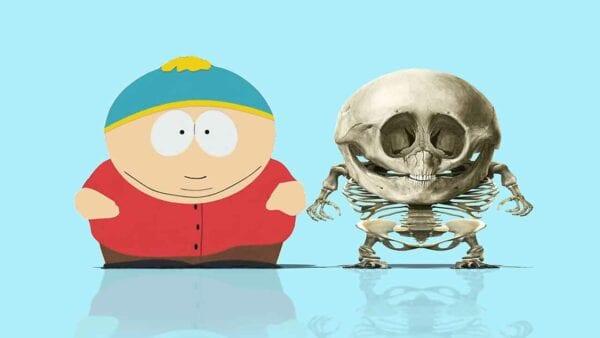 Skelette von Cartoon-Figuren