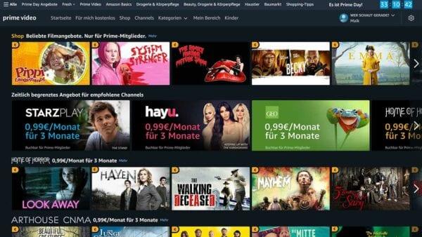 """Serien-Angebote und reduzierte Amazon Prime Video Channels beim """"Prime Day 2021"""""""